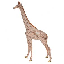 Herend Porcelain Fishnet Figurine of a Large Giraffe